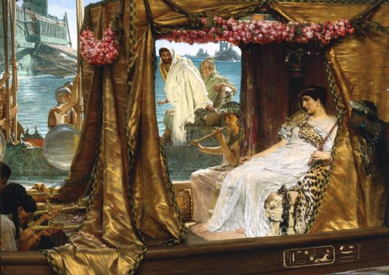 Alma-Tadema, Sir Lawrence: The Meeting of Antony and Cleopatra, 41 B.C. Fine Art Print/Poster. Sizes: A4/A3/A2/A1 (003792)